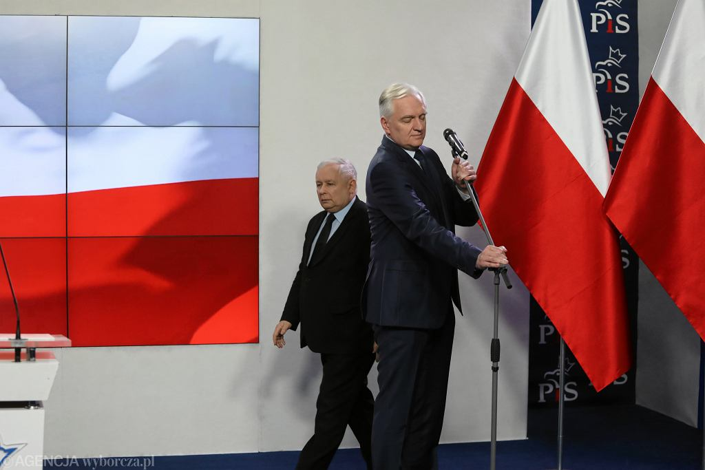 Jarosław Kaczyński i Jarosław Gowin