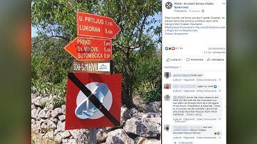 Chorwacja w żartobliwy sposób walczy z klapkowiczami w górach
