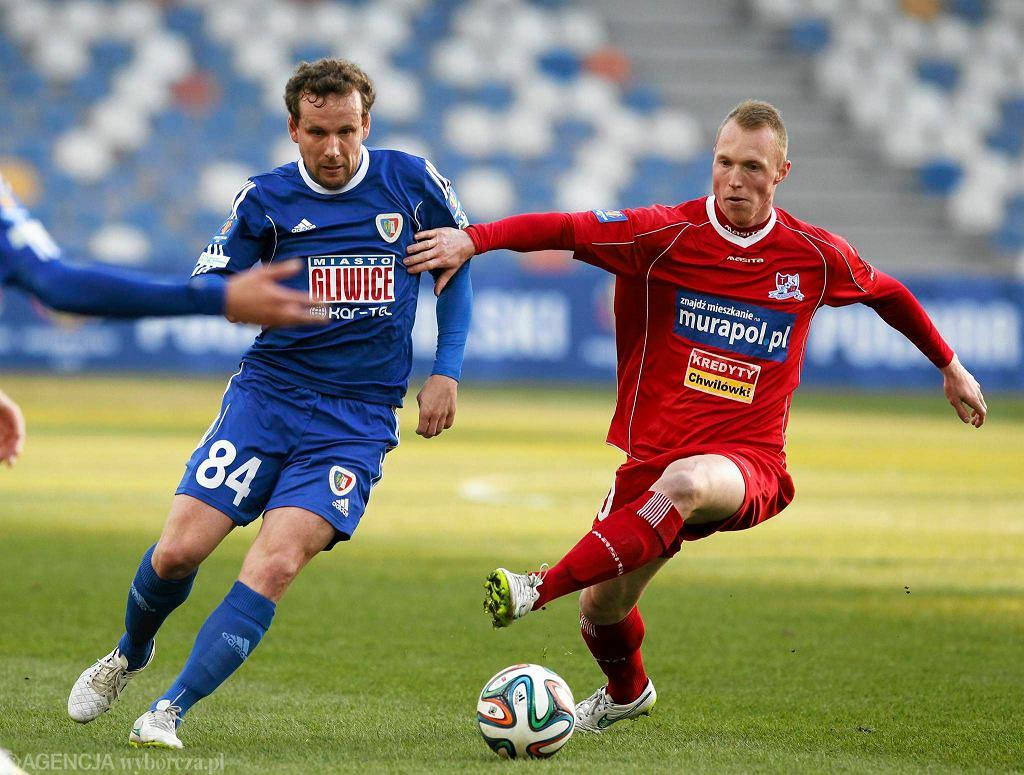 Kristian Kolcak z Podbeskidzia (z prawej