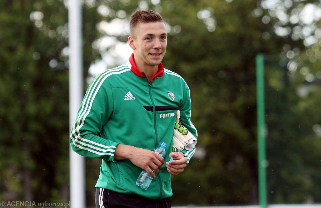 Łukasz Budziłek podczas treningu Legii