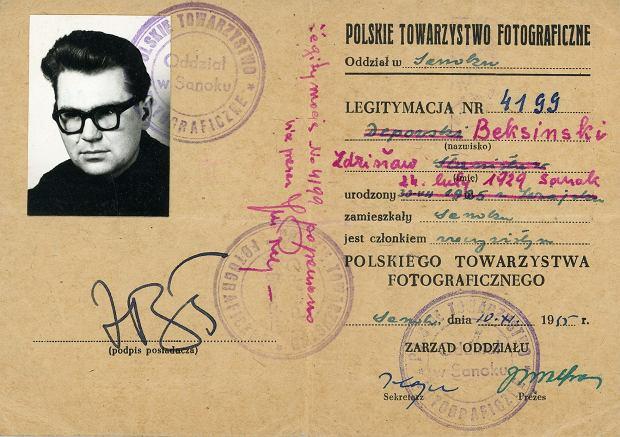Legitymacja Zdzisława Beksińskiego