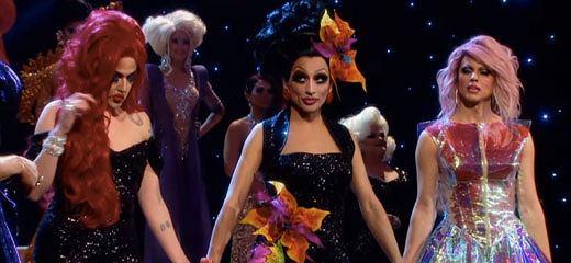 Adore Delano, Bianca del Rio i Courtney Act w finale 'RuPaul's Drag Race'