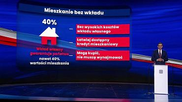 Premier Mateusz Morawiecki ogłasza 'Mieszkanie bez wkładu'