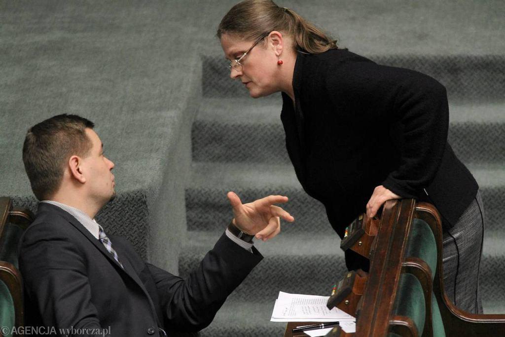 Posłanka Krystyna Pawłowicz podczas debaty o związkach partnerskich w Sejmie