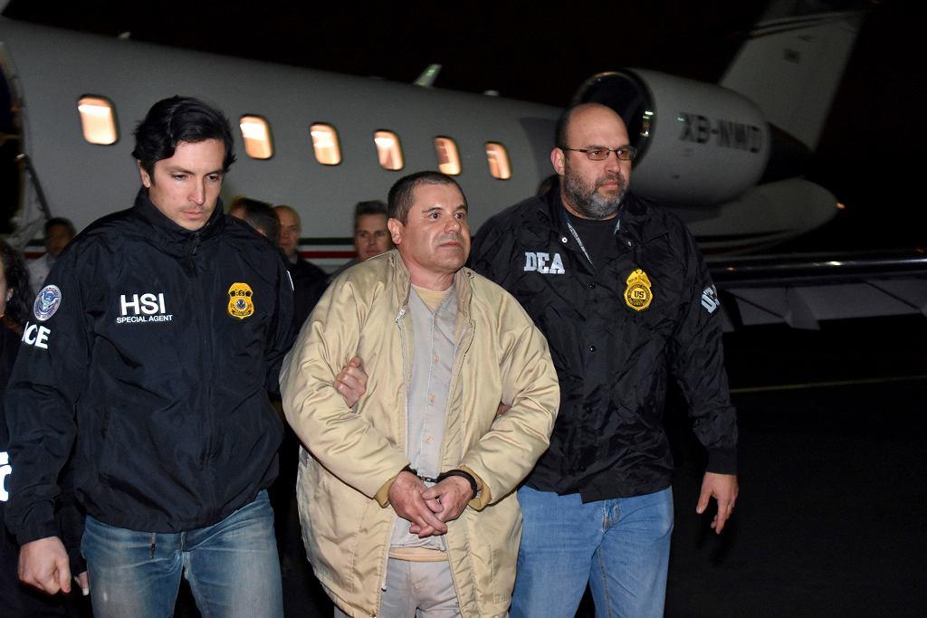 'El Chapo' po przylocie do USA