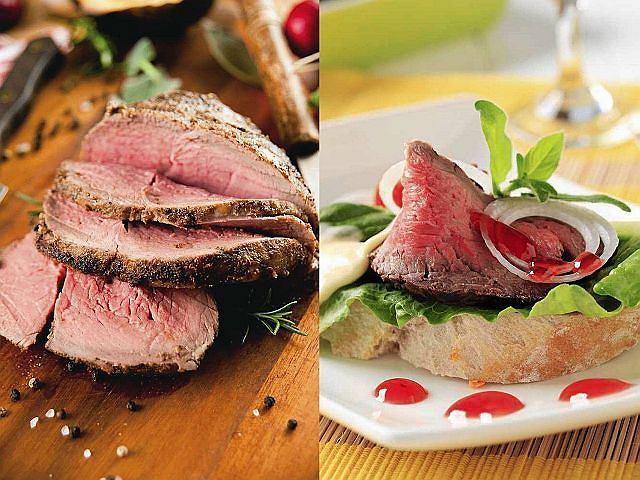 Rostbef jest doskonałym źródłem białka.