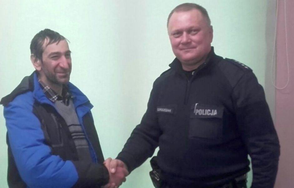 48-letni obywatel Węgier i asp. szt. Grzegorz Droszczak