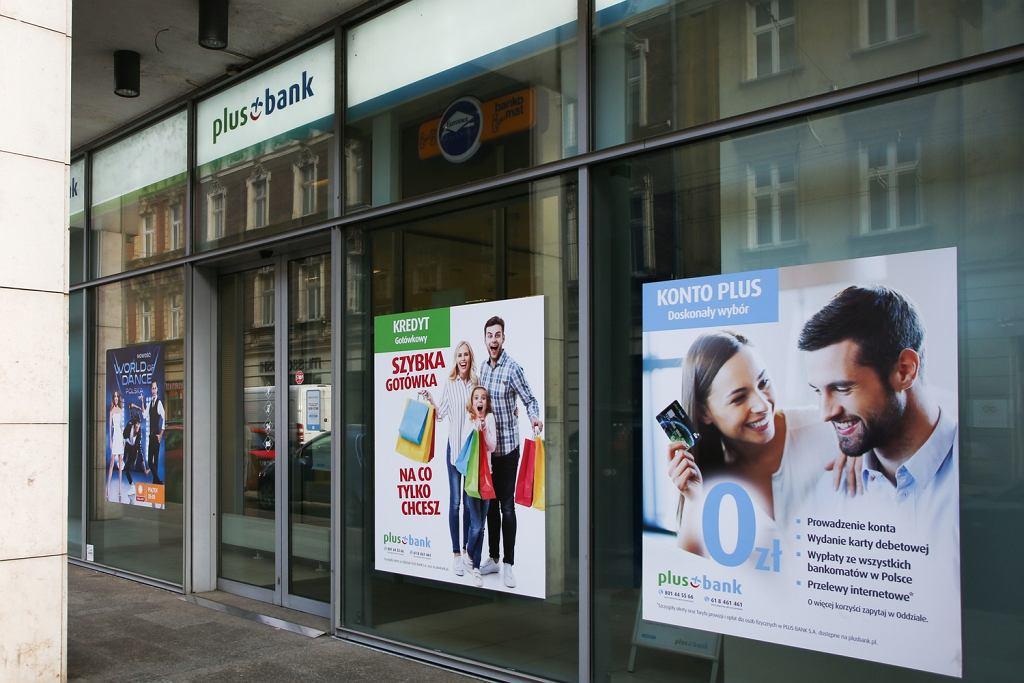Oddział Plus Banku w Krakowie.
