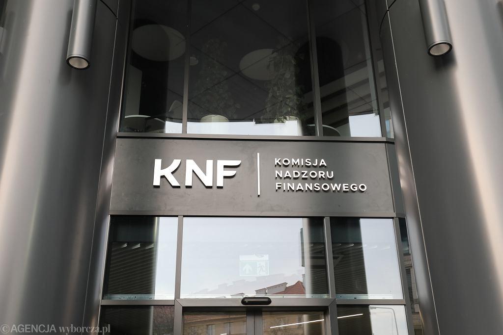 Siedziba Komisji Nadzoru Finansowego. Warszawa, 13 listopada 2018