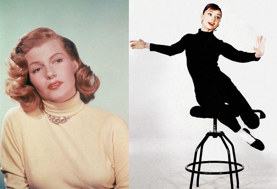 Rita Hayworth i Audrey Hepburn to ikony mody. Obie nosiły golf