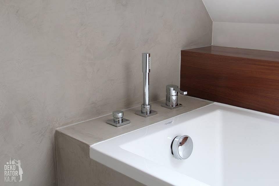 Pomysłowe Aranżacje łazienka Bez Płytek I Fug
