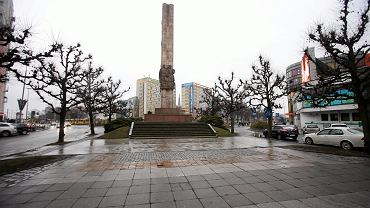 Szczecin. Plac Lotnikow i pomnik Wdzięczności dla Armii Radzieckiej