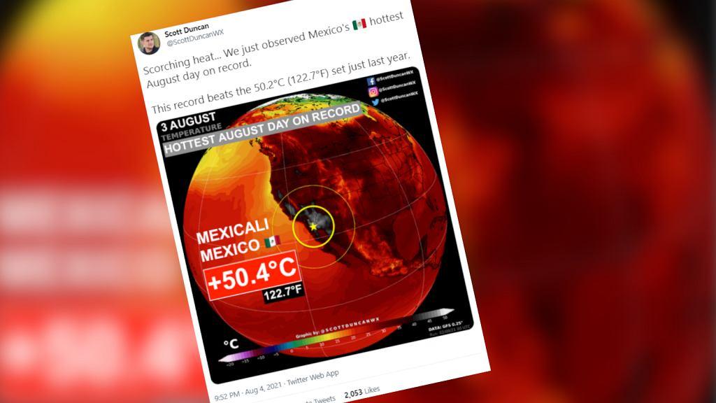 Rekordowa temperatura w Meksyku