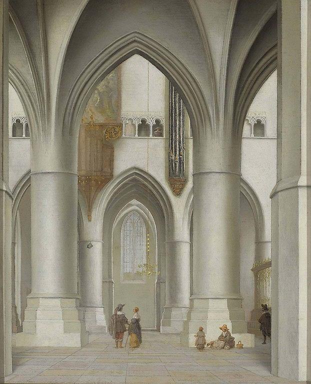 Pieter Jansz. Saenredam (1597-1665), Wnętrze kościoła św. Bawona w Haarlemie, 1635, obraz na desce / Muzeum Narodowe w Warszawie