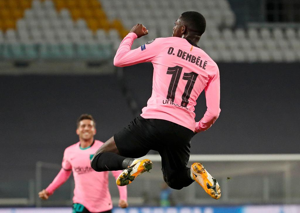 Ousmane Dembele strzela, Barcelona wygrywa z Juventusem