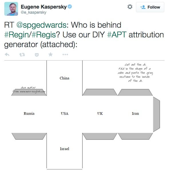 Kaspersky proponuje: chcesz wiedzieć kto stworzył Regin? Wytnij kostkę i wylosuj autora