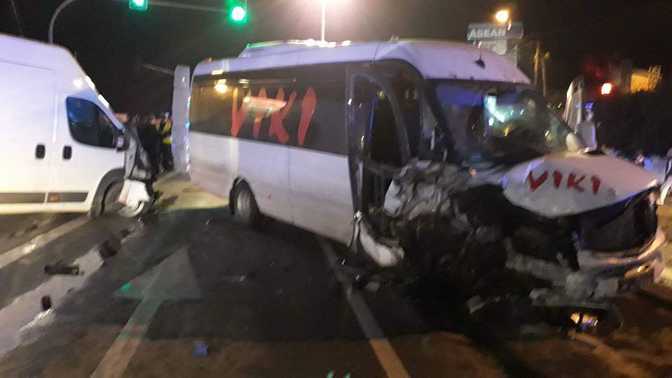 Wypadek na drodze krajowej nr 7 - 18 stycznia 2019