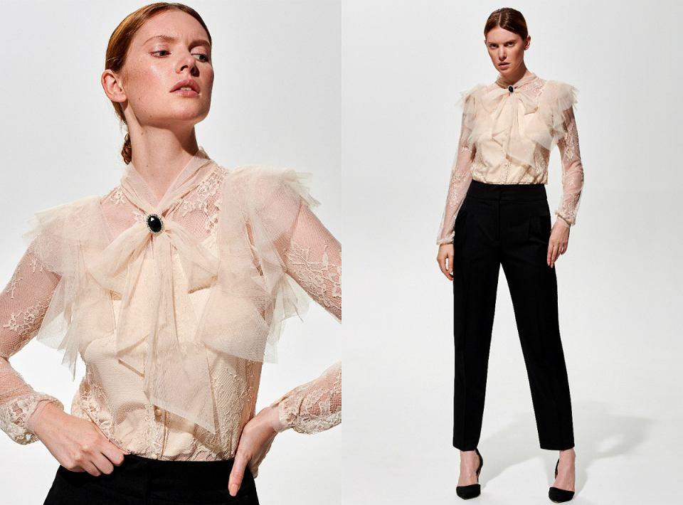 Eleganckie bluzki na imprezę firmową