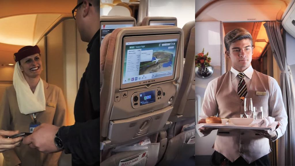 Test klasy biznes i ekonomicznej w Emirates