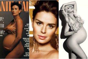 Boom na seksowne (przynajmniej z założenia) ciążowe sesje zdjęciowe trwa w najlepsze. Jednak nie każda gwiazda wypada tak jak Demi Moore w słynnej sesji dla Vanity Fair zrobionej przez Annie Leibovitz. Zobaczcie ciążowe rozbierane sesje gwiazd.