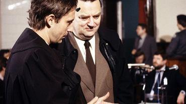 Proces toruński,1985 r . Mecenas Krzysztof Piesiewicz i mecenas Jan Olszewski.