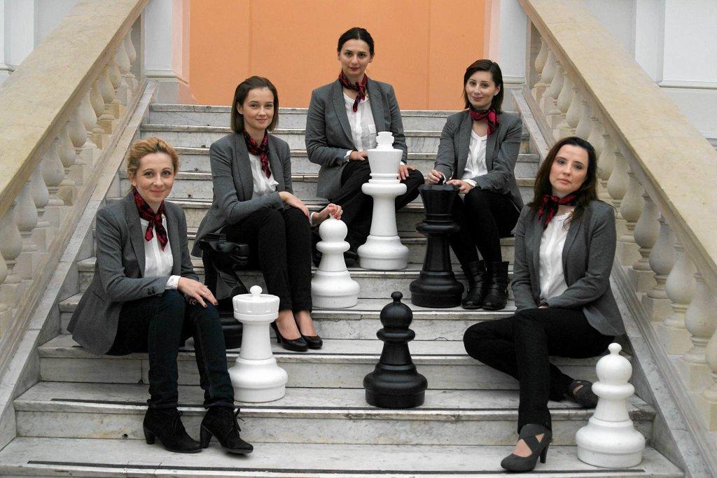Arcymistrzynie od lewej: Monika Soćko, Karina Szczepkowska-Horowska, Iweta Rajlich, Joanna Majdan-Gajewska, Jolanta Zawadzka