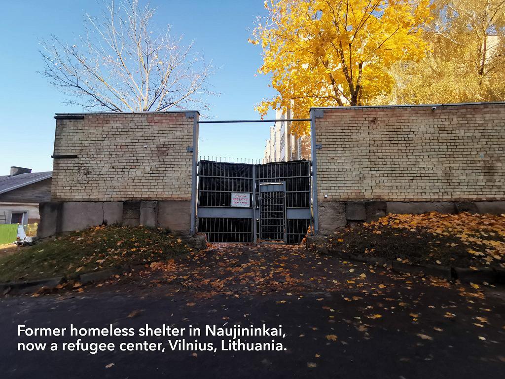 Dawne schronisko dla bezdomnych w Naujininkai (Wilno)