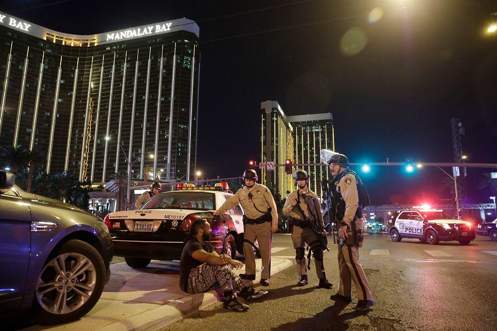 Okolice miejsca strzelaniny w Las Vegas