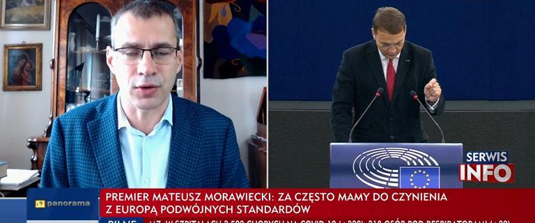 TVP relacjonuje debatę w PE. Widzowie słyszą Jakiego, Sikorskiego nie