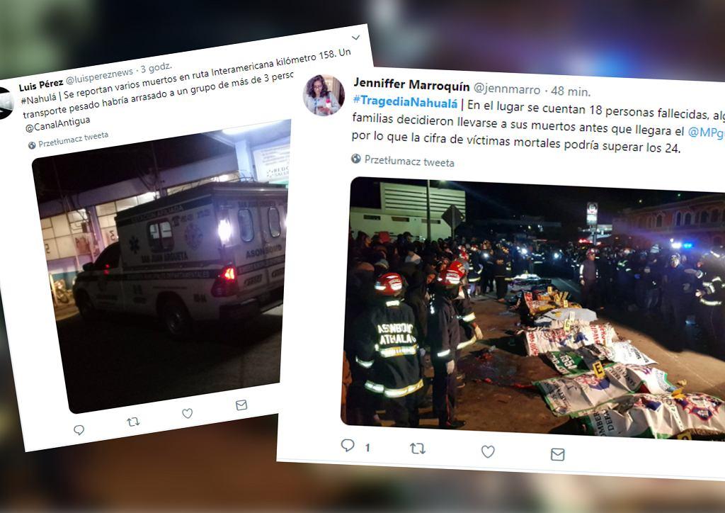 Wypadek w Gwatemali. Ciężarówka wjechała w tłum ludzi. Nie żyją 32 osoby