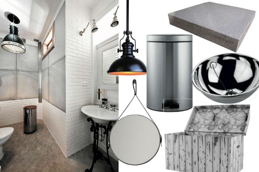 5 trendów przy urządzaniu łazienki - styl industrialny.