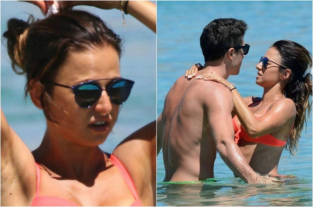 Anna i Robert Lewandowscy kontynuują swoje bajeczne wakacje na Mykonos w Grecji. Żona piłkarza w czwartek miała na sobie pomarańczowy kostium z push-upem. Trzeba przyznać, że stanik