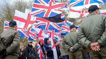1.04.2017, Londyn, 'Marsz przeciwko terroryzmowi' zorganizowany przez Britain First.