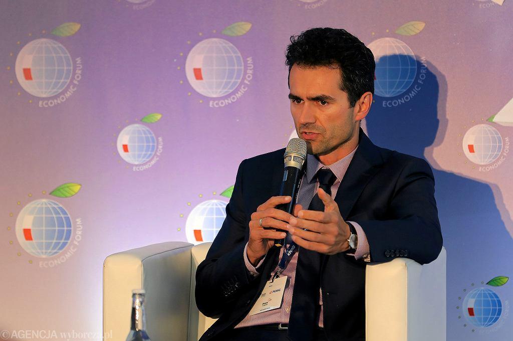 Piotr Malepszak podczas XXIX Forum Ekonomicznego w Krynicy w 2019.