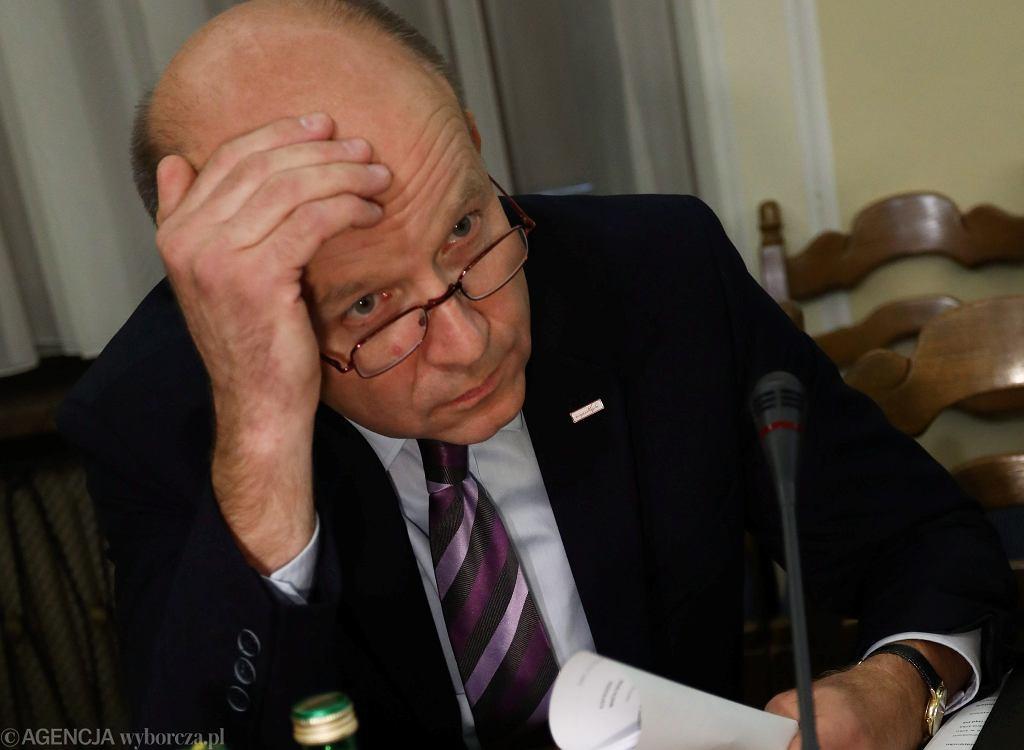 Minister zdrowia Konstanty Radziwiłł podczas posiedzenia Sejmowej Komisji Zdrowia, 09.10.2017
