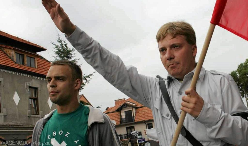 Tomasz Greniuch (po lewej) w 2005 roku