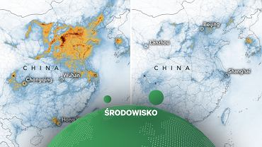 Spadek NO2 w powietrzu w Chinach