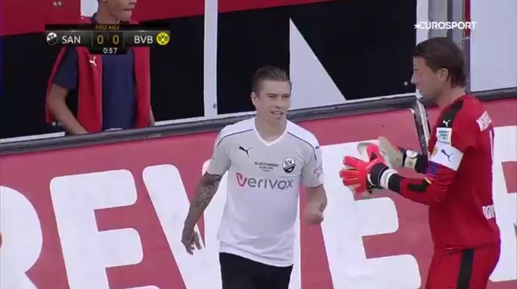 Jakub Kosecki w sparingu z Borussią Dortmund