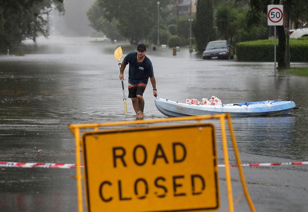 Ulica w Windsor pod wodą, 23 marca 2021 r.
