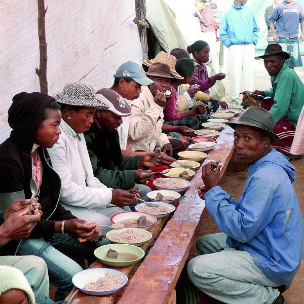 Richard i jego goście podczas uroczystości