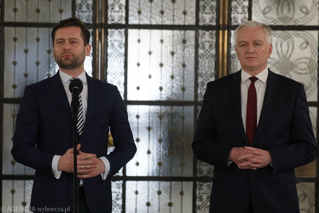 Kamil Bortniczuk i Jarosław Gowin