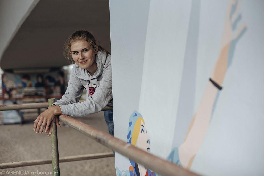 Marta, współautorka muralu 'Kobiety Wolności'
