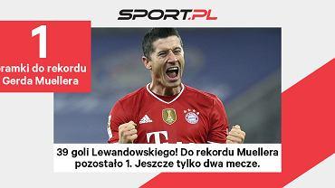 Robert Lewandowski traci już tylko jednego gola do rekordu Gerda Muellera!