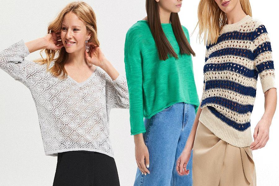 Ażurowe sweterki