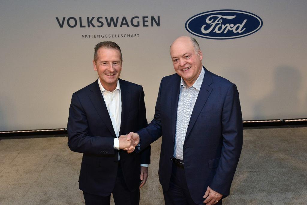 Jim Hacket (Ford) i Herbert Diess (Volkswagen)