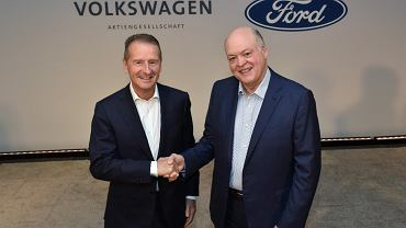 Jim Hacket (Ford) i Herbert Diess (Volkswagen)