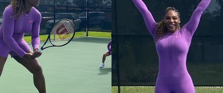 Serena Williams trenuje z trzyletnią córeczką. Mała Alexis kradnie show. Fani: Urocza