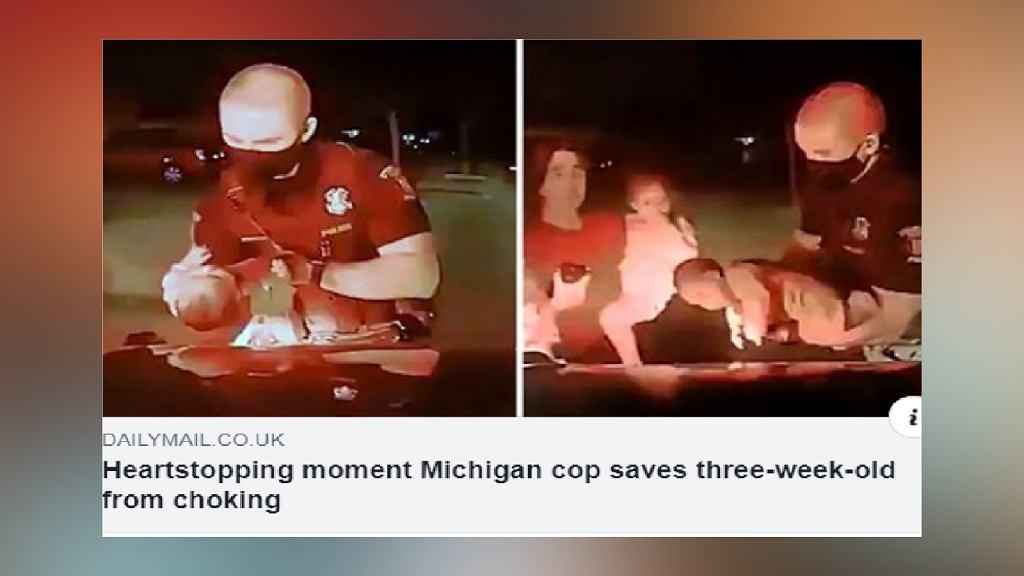 policjant i dziecko