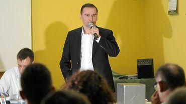 Walne zebranie w Stomilu Olsztyn i wybory nowego prezesa piłkarskiego klubu. Na zdj. Robert Kiłdanowicz