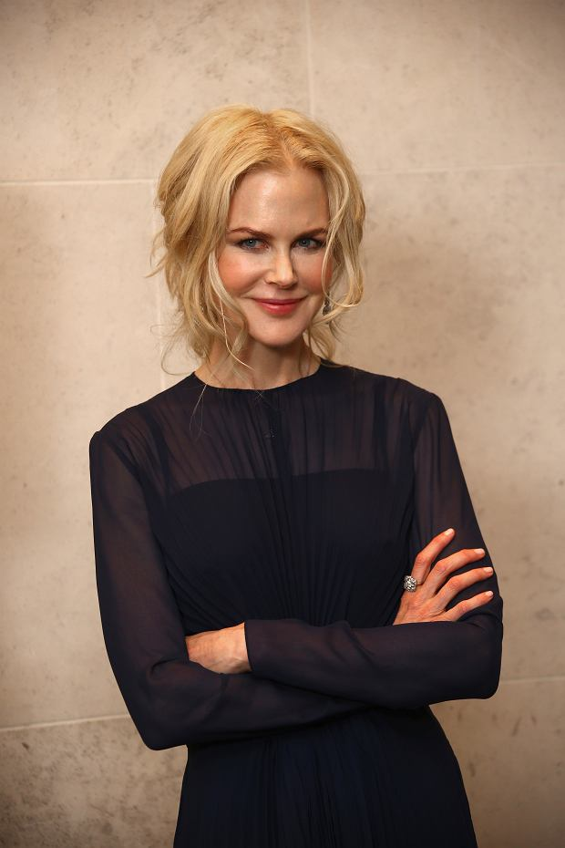 Actress Nicole Kidman poses for photographers upon arrival at the The Academy of Motion Picture Arts and Sciences Reception in London during the London Film Festival, Saturday, Oct. 13, 2018. (Photo by Joel C Ryan/Invision/AP)